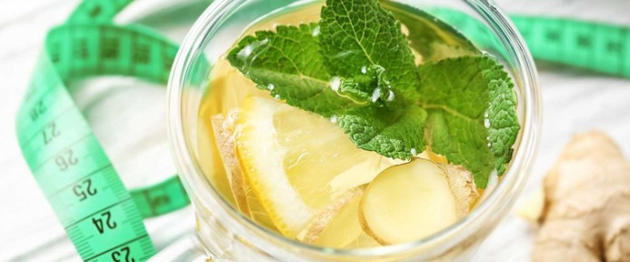 Teatox with lemon and mint, perfect for IBS