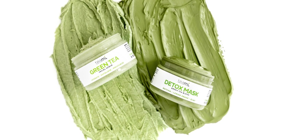 teami green tea detox mask and green tea face scrub