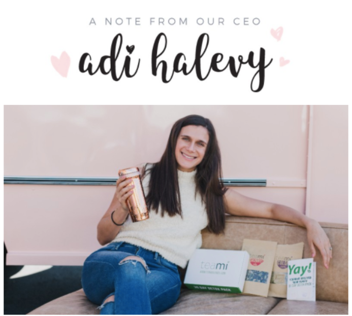 Adi with the Teami 30 Day Detox Tea Pack