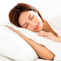 Woman getting sleep